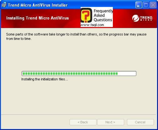 ההתקנה החלה, TrendMicro AntiVirus plus AntiSpyware 2010