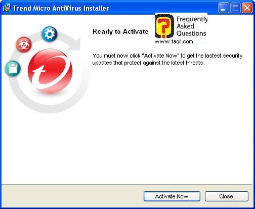 הפעל כעת את האנטיוירוס, TrendMicro AntiVirus plus AntiSpyware 2010