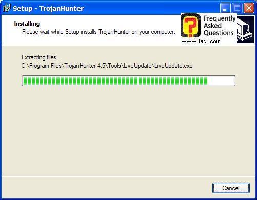 החלה ההתקנה,תוכנת TrojanHunter 4.5