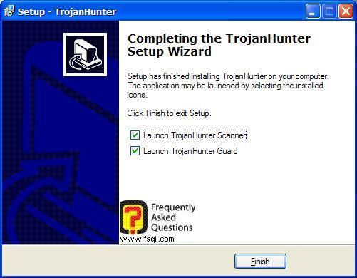 סיום ההתקנה,תוכנת TrojanHunter 4.5