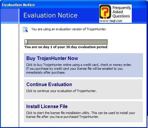 התוכנה לתקופת ניסיון,תוכנת TrojanHunter 4.5