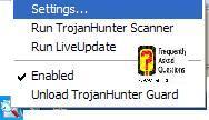 אפשרויות,תוכנת TrojanHunter 4.5