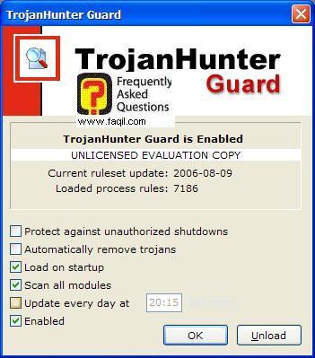 להסיר אוטומטי טרויאנים,ועדכון תוכנה,תוכנת TrojanHunter 4.5