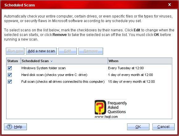 בחירה בשעה המתאימה לבדיקה,Trend Micro Internet Security 2010