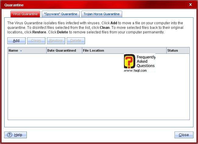 רשימת הסגר וירוסים,Trend Micro Internet Security 2010