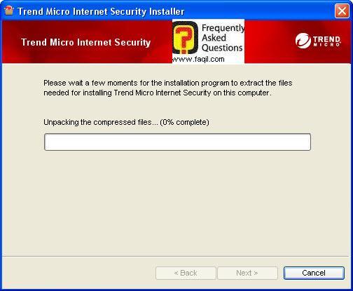 המתינו לפתיחת הקובץ,Trend Micro Internet Security 2010