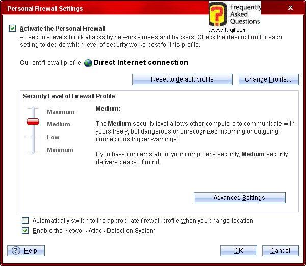 רמת שלב אבטחה של החומת אש,Trend Micro Internet Security 2010