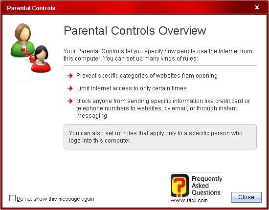 סקירת בקרת הורים,Trend Micro Internet Security 2010