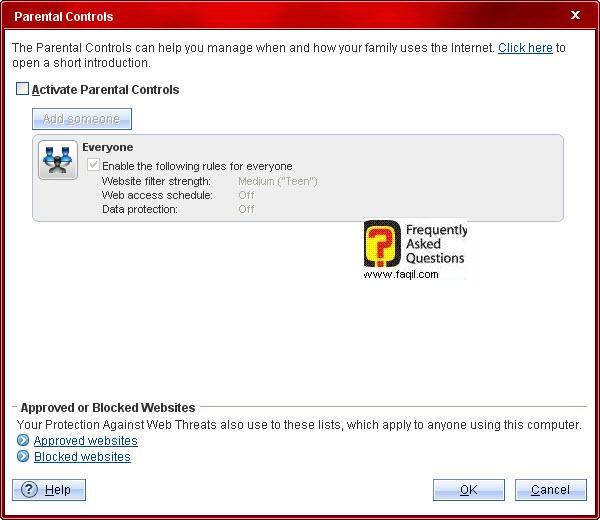 למעוניינים בשליטה ניתן לסמן v בריבוע,Trend Micro Internet Security 2010