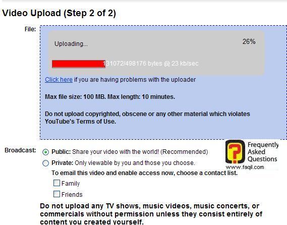 מעלה את הקובץ וידאו,אתר יוטיוב (YouTube)