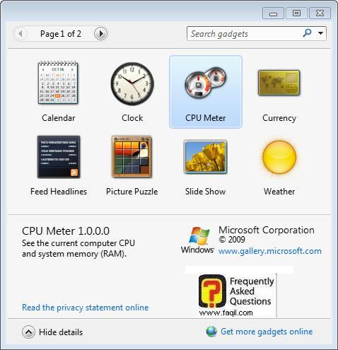 אפליקציות קיימות, בחלונות 7 (windows 7)