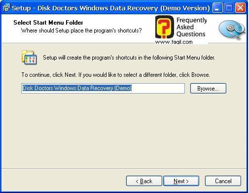 בחירת שם בתפריט המהיר,תוכנת  Disk Doctors Windows Data Recovery (FAT)