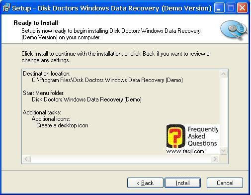 מיקום קרא לפני התקנה,תוכנת  Disk Doctors Windows Data Recovery (FAT)