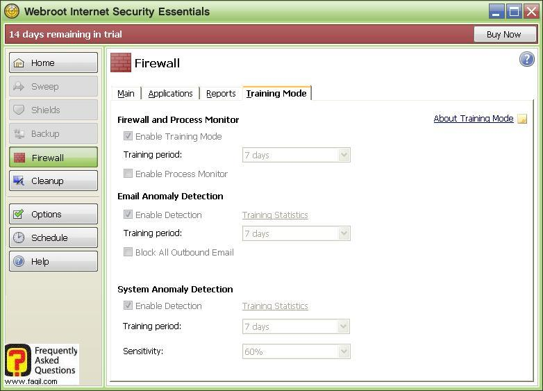 חומת אש, לשונית Training-Werboot Internet Security