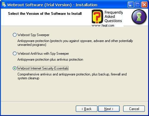 מסך בחירת מרכז האבטחה-Werboot Internet Security