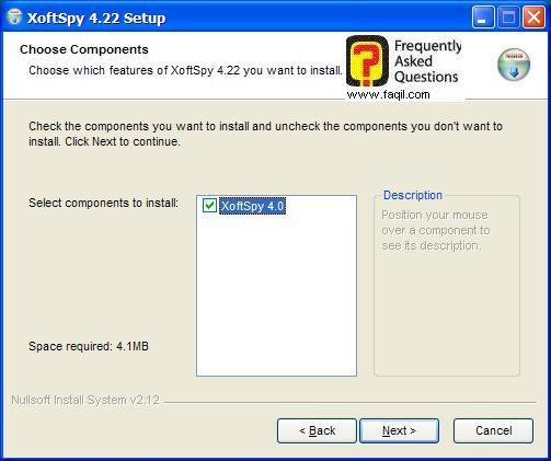 מסך התקנה,תוכנת XoftSpy 4.2