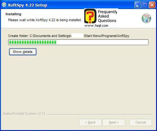 ההתקנה החלה,תוכנת XoftSpy 4.2