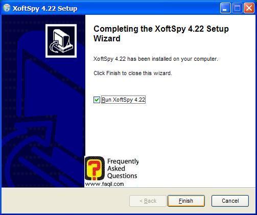 ההתקנה הסתיימה,תוכנת XoftSpy 4.2