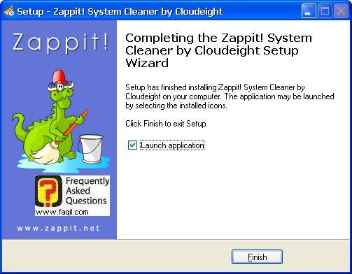 סיום ההתקנה,תוכנת Zappit