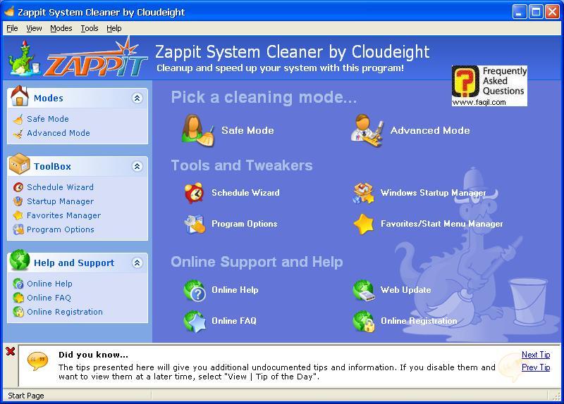 בחירת מצב תוכנה,תוכנת Zappit