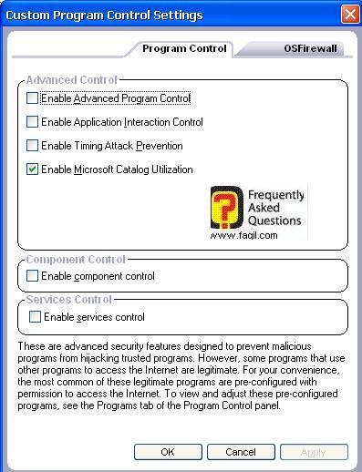 הגדרות מתקדמות תוכנית מלאה,מרכז האבטחה של צ'ק פוינט-ZoneAlarm Security Suite