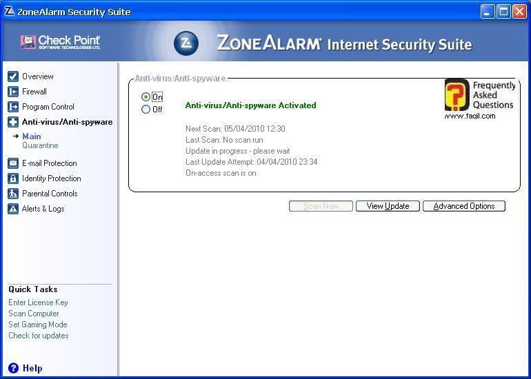 אנטיוירוס שיפעל ברקע,מרכז האבטחה של צ'ק פוינט-ZoneAlarm Security Suite