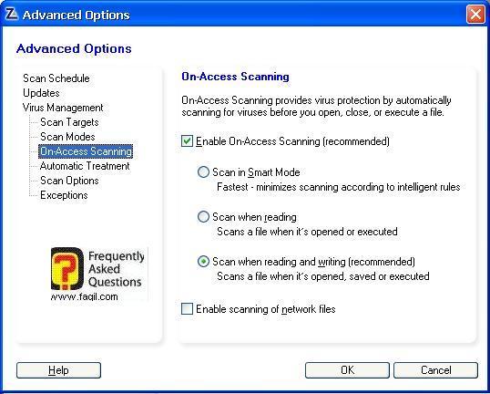 הגדרות מתי יפעל האנטיוירוס לבדיקה אוטומטית,מרכז האבטחה של צ'ק פוינט-ZoneAlarm Security Suite