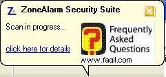 הפעלת האנטיוירוס מהחלון הראשי,מרכז האבטחה של צ'ק פוינט-ZoneAlarm Security Suite