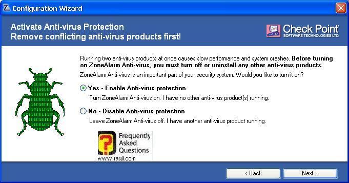 התקנת האנטיוירוס גם,מרכז האבטחה של צ'ק פוינט-ZoneAlarm Security Suite