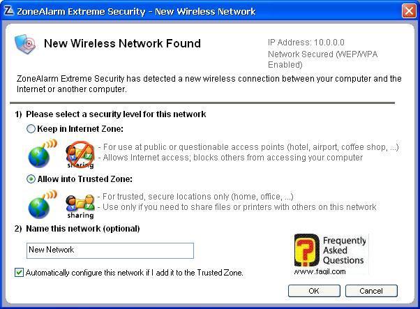 אם יש לכם רשת אלחוטית, ZoneAlarm Extreme Security-חומת אש ואנטיוירוס